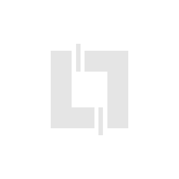 Luminaire Kalank rectangle avec grille taille 3 blanc 2G11 / 18W