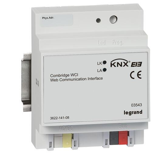 Passerelle modulaire BUS KNX 4 modules pour communication via l'infrastructure IP- 4 modules
