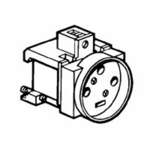 Prise de courant modulaire 20A 400V~ - 3P+T à éclips - 3,5 modules