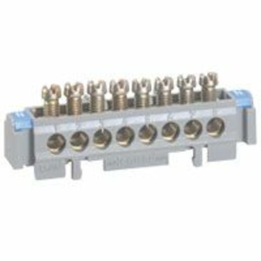 Bornier de répartition nu sur support - 1 connexion 6mm² à 25mm² - longueur 141mm