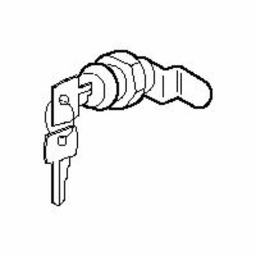 Serrure n° 405 pour porte isolante pour bac étroit GTL