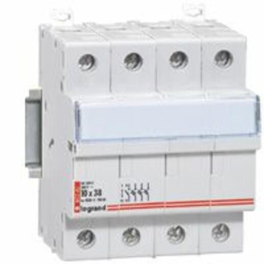Coupe-circuit sectionneur tripolaire+neutre pour cartouche cylindrique industrielle typeaM ou gG 8x32mm - 400V~