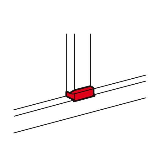 Dérivation plane pour goulotte DLP monobloc avec couvercle 85mm vers largeur 105mm - blanc