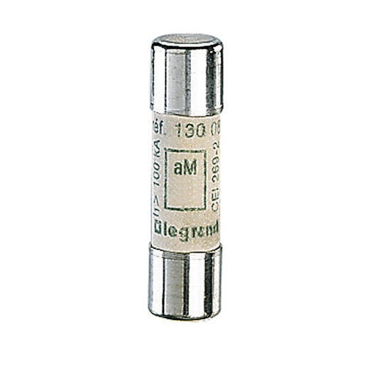 Cartouche industrielle cylindrique typeaM 10x38mm sans voyant - 0,25A