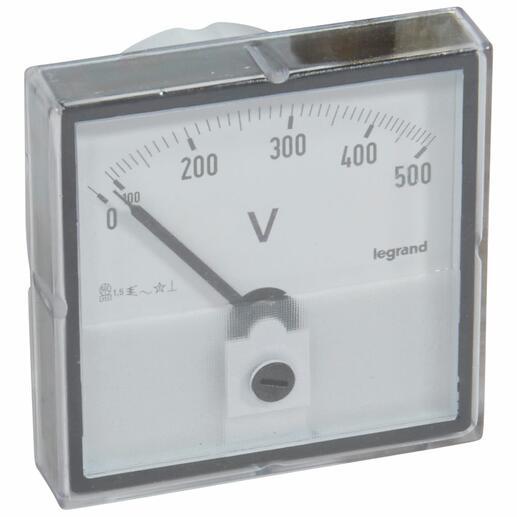 Voltmètre analogique à fût rond Ø56mm
