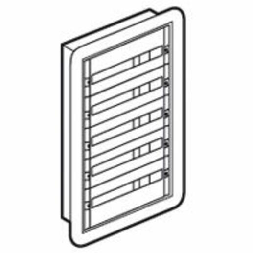 Coffret distribution encastré XL³160 tout modulaire 5 rangées - 120 modules