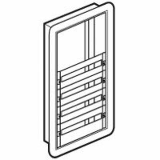 Coffret distribution encastré XL³160 tout modulaire avec espace dédié pour kit de branchement - 4 rangées