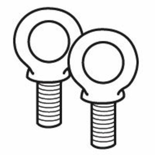 Jeu de 2 anneaux de levage pour coffret et armoire XL³800