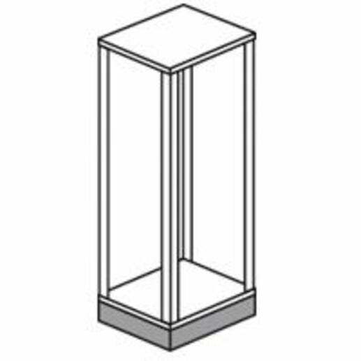 Socle juxtaposable pour armoire XL³4000 - hauteur extérieure 100mm , largeur 975mm et profondeur 475mm