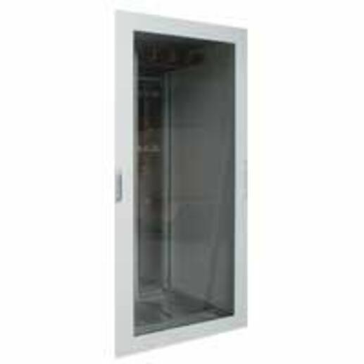 Porte vitrée réversible plate pour armoire XL³4000 largeur 975mm et hauteur extérieure 2000mm
