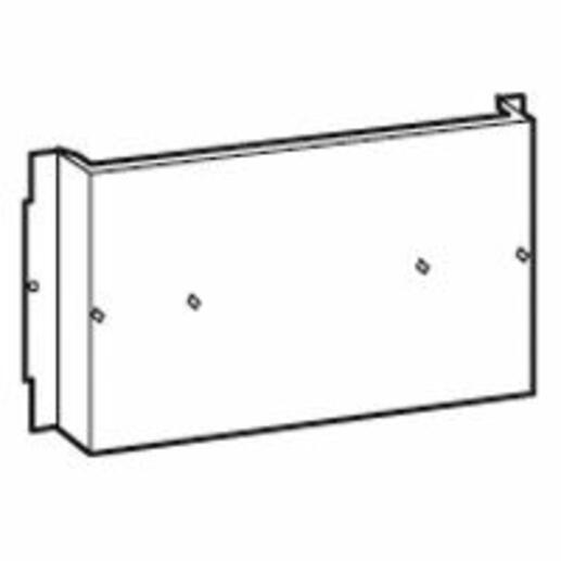 Dispositif de fixation pour DPX³630 vertical avec différentiel dans gaine à câbles externe XL³800
