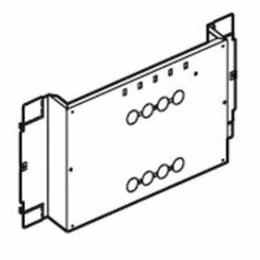 Platine fixe pour 1 ou 2 DPX-IS250 en position verticale dans XL³4000 ou XL³800 - 36 modules