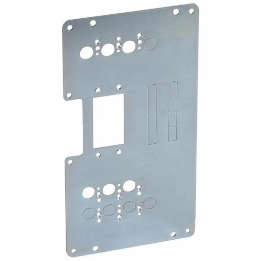 Platine de montage pour 1 DPX³160 extractible en inverseur de sources en position verticale dans XL³4000