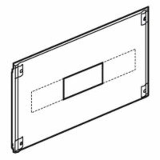 Plastron métal 1/4 tour pour Vistop 160A dans XL³4000 ou XL³800 - hauteur 200mm - 24 modules