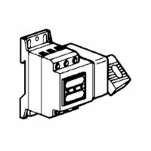 Interrupteur-sectionneur Vistop 32A - 3P avec commande latérale droite et poignée rouge - plastron jaune