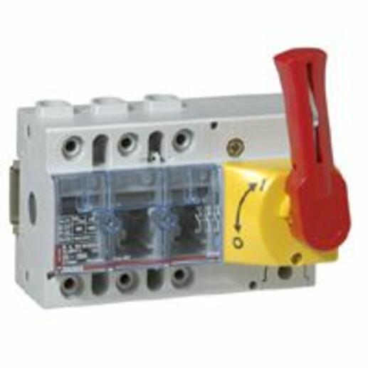 Interrupteur-sectionneur Vistop 125A - 3P avec commande frontale et poignée rouge