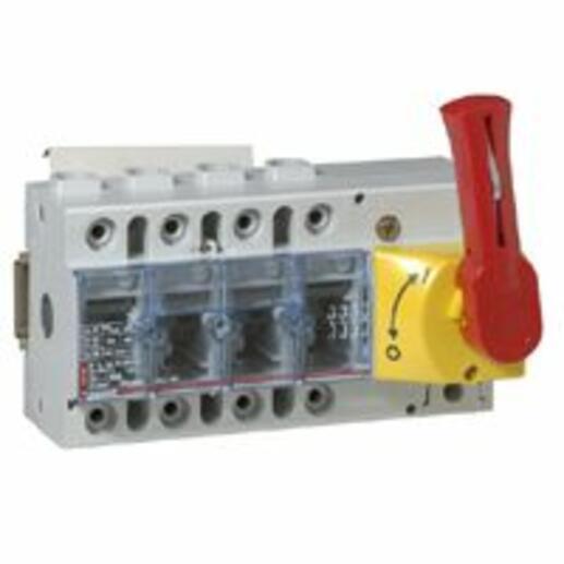 Interrupteur-sectionneur Vistop 100A - 4P avec commande frontale et poignée rouge