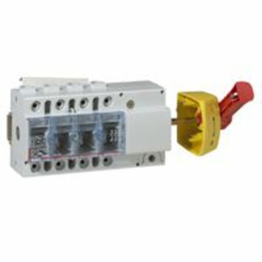 Interrupteur-sectionneur Vistop 100A - 4P avec commande latérale et poignée rouge