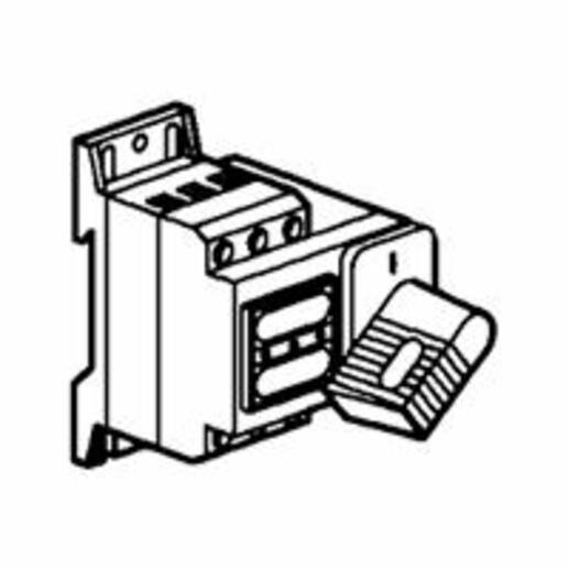 Interrupteur-sectionneur Vistop 32A - 3P avec commande frontale et poignée noire