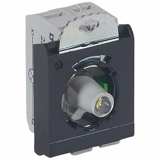 Sous-ensemble bloc pour tête lumineuse Osmoz raccordement à vis - 12V à 24V alternatif ou continu - NO - blanc
