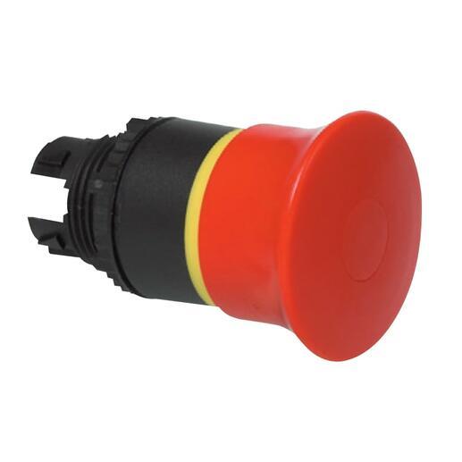 Coup de poing Ø40 pousser-tirer arrêt d'urgence IP69 Osmoz composable - rouge