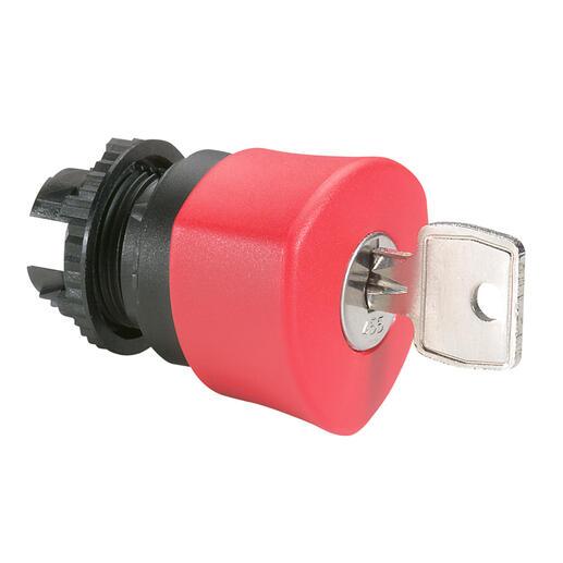 Coup de poing Ø40 n°455 à clé coupure d'urgence IP69 Osmoz composable - rouge