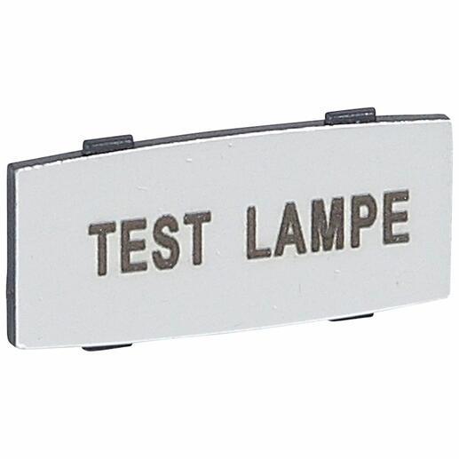Insert Osmoz avec texte à enclipser sur un cadre - alu - petit modèle avec marquage TEST LAMPE