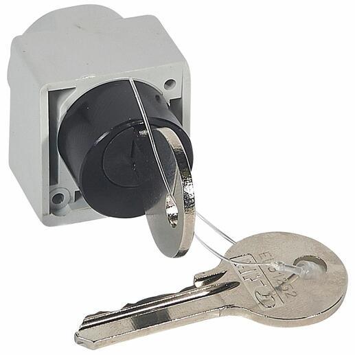 Serrure de verrouillage de commande motorisée DPX³1600 ou DPX³630 en position ouverte à clé plate