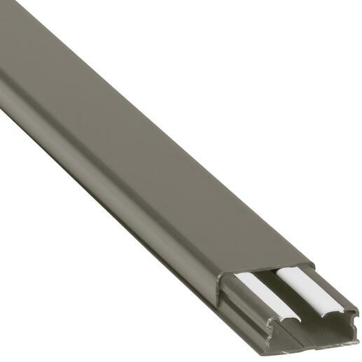 Guide-câbles marron 32x12,5mm grande capacité 1 compartiment - longueur 2,1m