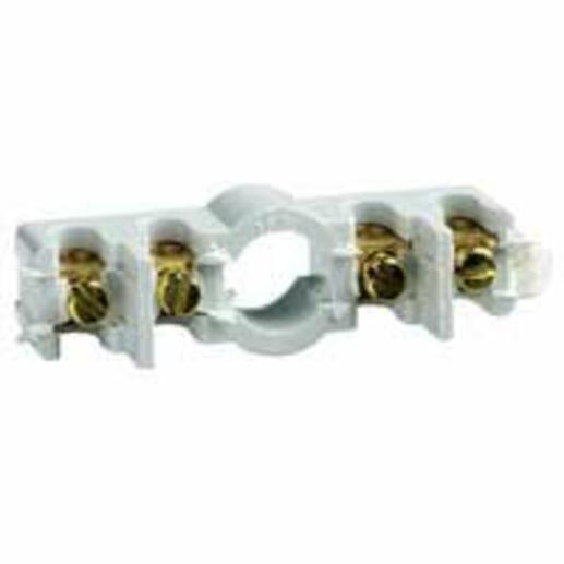 Barrette 4 bornes 4mm² pour boîtes de dérivation