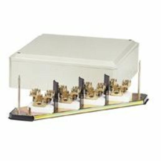 Grille de dérivation IP30 IK07 4P pour câble cuivre section 25mm² et intensité nominale 101A