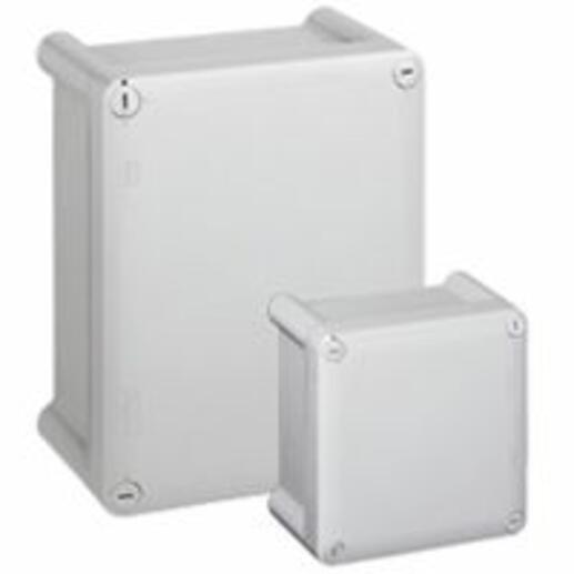 Boîtier industriel plastique IP66 IK08 - 130x75x74mm avec couvercle opaque