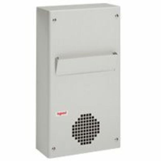 Echangeur air/air capacité dissipation 80W/°C pour installation verticale sur panneau ou porte d'armoire - RAL7035