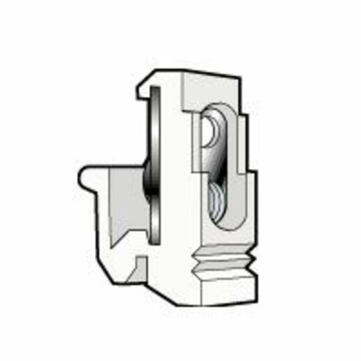 Fixocap pour vis M4 en partie supérieure et vis M6 fixation appareillage sur rail EN 60715 asymétrique - blanc