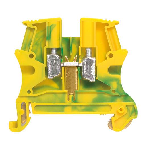 Bloc de jonction pour conducteur de protection à vis Viking3 avec 1 jonction 1 entrée 1 sortie section 10mm² - pas 10mm