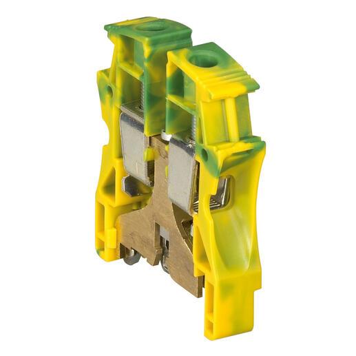 Bloc de jonction pour conducteur de protection à vis Viking3 avec 1 jonction 1 entrée 1 sortie section 35mm² - pas 15mm
