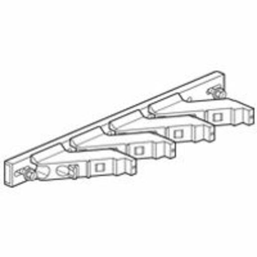 Support isolant pour armoire Altis - 1 barre cuivre 18x4mm, 25x5mm, 32x5mm, 50x5mm et 63x5mm par pôle jusqu'à 800A
