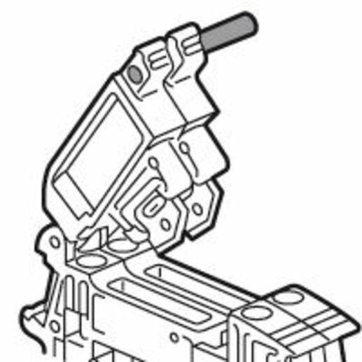 Tige de solidarisation pour 3 blocs de jonction sectionnables à vis ou ressort Viking 3