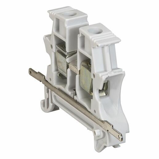 Barrette de continuité de blindage pour bloc de jonction à vis Viking3 avec 1 entrée 1 sortie pas 5mm à 10mm