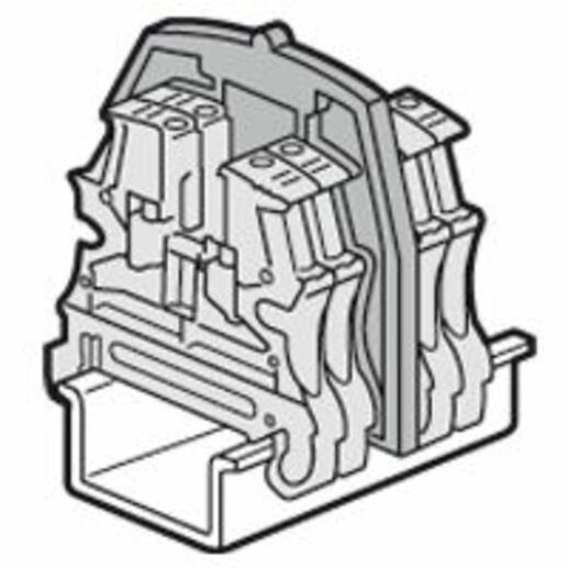 Cloison de séparation pour blocs de jonction à vis Viking3 avec 2 étages