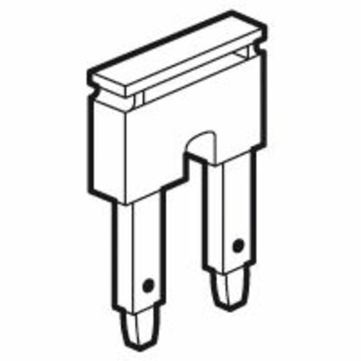 Peigne pour 2 blocs de jonction à ressort Viking3 pas 10mm - rouge