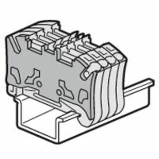Cloison terminale pour blocs de jonction à ressort Viking3 avec 2 étages pas de 5mm