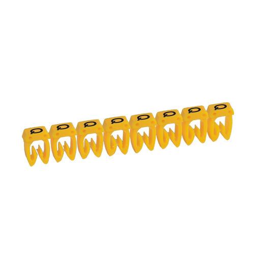 Repère CAB 3 pour filerie 0,15mm² à 0,5mm² et blocs de jonction avec lettre majuscule Q