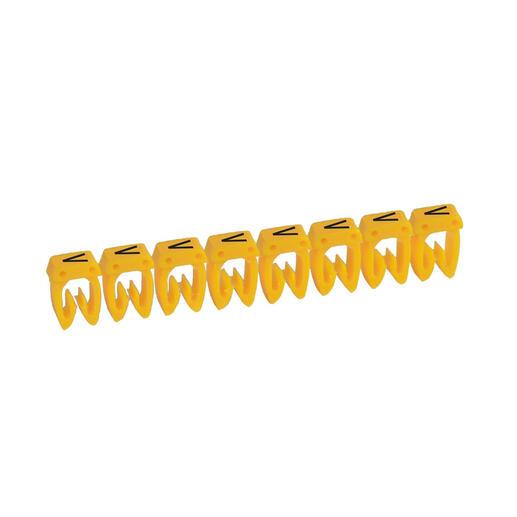 Repère CAB 3 pour filerie 0,15mm² à 0,5mm² et blocs de jonction avec lettre majuscule V