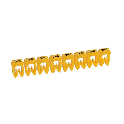 Repère CAB 3 pour filerie 0,5mm² à 1,5mm² et blocs de jonction avec lettre majuscule X