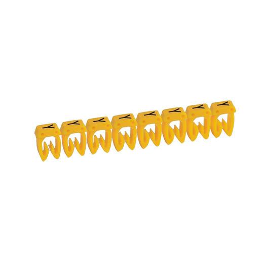 Repère CAB 3 pour filerie 0,5mm² à 1,5mm² et blocs de jonction avec lettre majuscule Y
