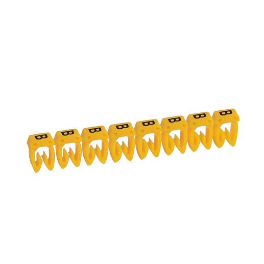 Repère CAB 3 pour filerie 1,5mm² à 2,5mm² avec lettre majuscule B