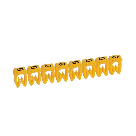 Repère CAB 3 pour filerie 1,5mm² à 2,5mm² avec lettre majuscule G