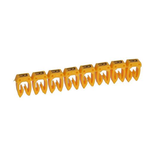 Repère CAB 3 pour filerie 4mm² à 6mm² avec lettre majuscule R