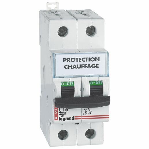 Etiquette de repérage adhésive pour imprimante laser 47x9mm pour appareillage 3 modules